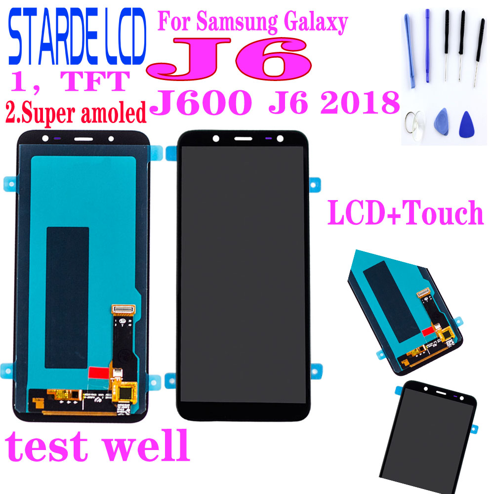 Super Amoled For Samsung Galaxy J6 2018 J600 J600F J600FN LCD Display Touch Screen Replacement J600G Lcd Display Screen Replace