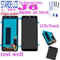 Tela de reposição para samsung galaxy  display de reposição touch screen para samsung galaxy j6 2018 j600 j600f j600fn