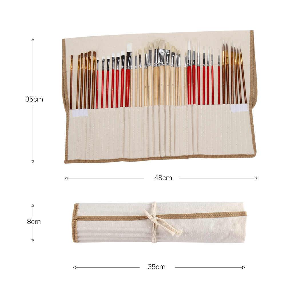 38 sztuk pędzle artystyczne zestaw dostaw zestaw startowy Taklon/szczecina/koń szczotki do włosów dla akrylowe olej akwarela gwasz