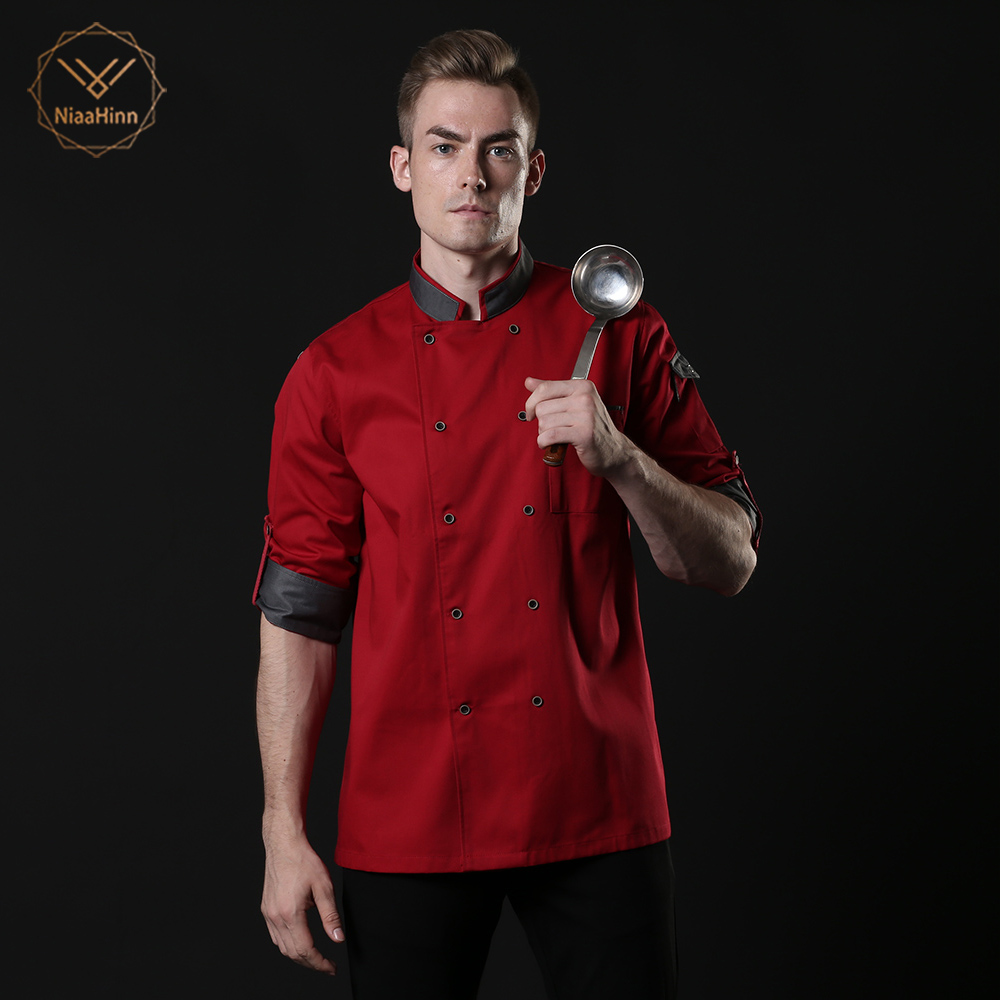Fall And Winter Long-sleeved Chef Service Work Clothes Hotel Restaurant Chef Uniforms Cofe Shop Kitchen Chef Uniform Chef Jacket