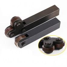 1 Набор 26 мм инструмент для накатки стали Dia двойные/одиночные колеса линейный шаг набор накатки токарный станок резец станки 0,6 мм-3,0 мм