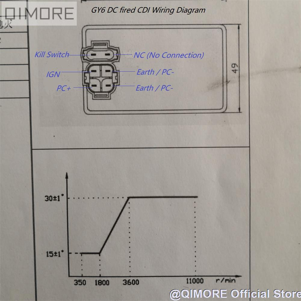 dc fired cdi unit ignitor with variable angle for scooter atv gy6 ... qianjiang scooter wiring diagram 49cc gy6 wiring diagram aliexpress