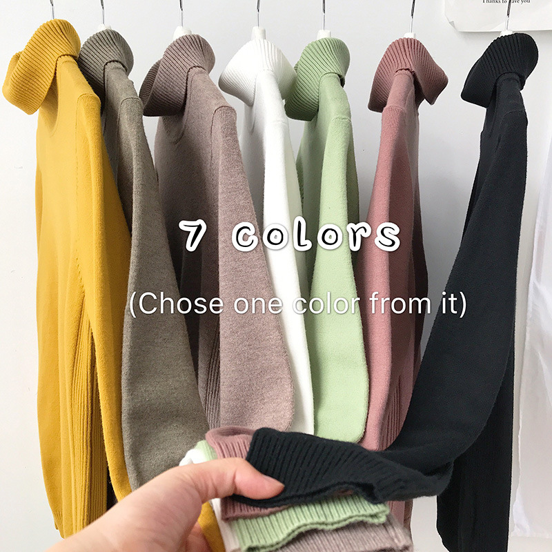 Men/women Turtleneck Sweater Pullover Man Fashion Solid Color Wool Sweater Thick Knit Sweater Men's Sweaters Winter New 2019