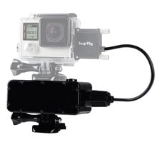 Go Pro 8  Max Waterproof External Battery Bank submersible for GoPro Hero 7/6/5/4/3 Xiaomi Yi 4K SJCAM DJI Osmo Action Camera цена и фото