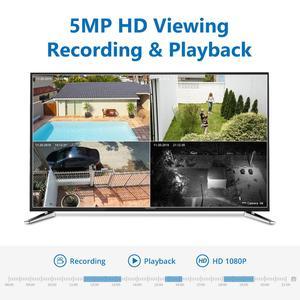 Image 2 - SANNCE 8CH 5MP FHD POE نظام أمن الفيديو H.264 + 5MP NVR مع 4X 8X في الهواء الطلق مقاوم للماء اتجاهين الصوت مايكرو IP كاميرا CCTV عدة
