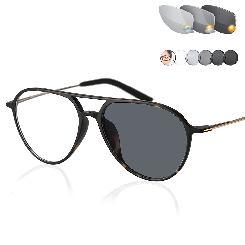 Tungsten Photochromic Reading Glasses Men Presbyopia Eyeglasses sunglasses discoloration with diopters 1.0 1.25 1.5 1.75 2.0 2.5