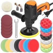 980w/700w multifuncional seis engrenagens carro de velocidade ajustável polisher elétrico máquina de depilação ferramenta de polimento de móveis automóveis