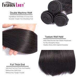 Image 4 - Thời Trang Nữ 3 Ốp Lưng Brasil Thẳng Tóc Dệt Lưng Với 5X5 Inch Ren Đóng Cửa Phần Giữa Con Người 100% tóc Không Remy