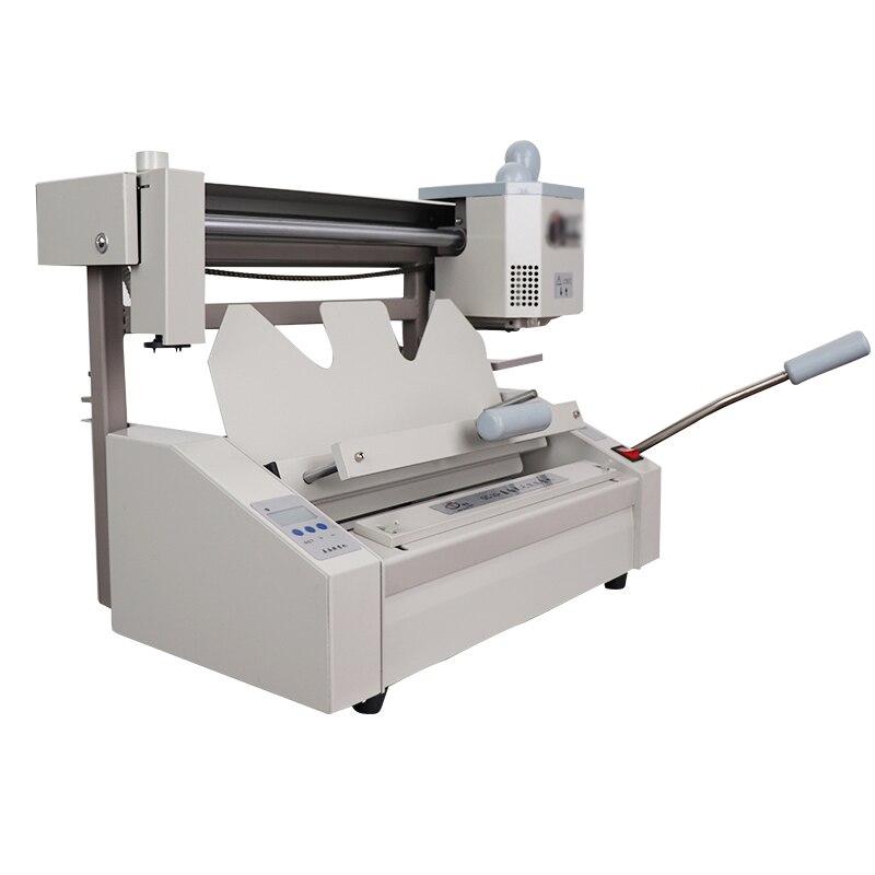 Perfect Binding Machine DC-30 + Manual Desktop Office Desk Equipment Hot Melt Tender Book Binding Machine Creasing Machine A4