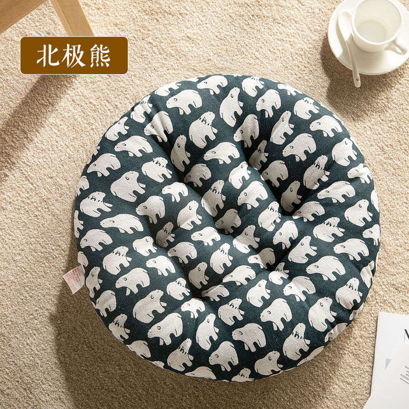 Hb3109e43be804729b41d3b147faffd6d1 New Seat Cushion Round Chair Cushion Breathable Seat Cushion Cat Pillow Fart Mat Outdoor Camping Seat Pad Thicken Chair Pad