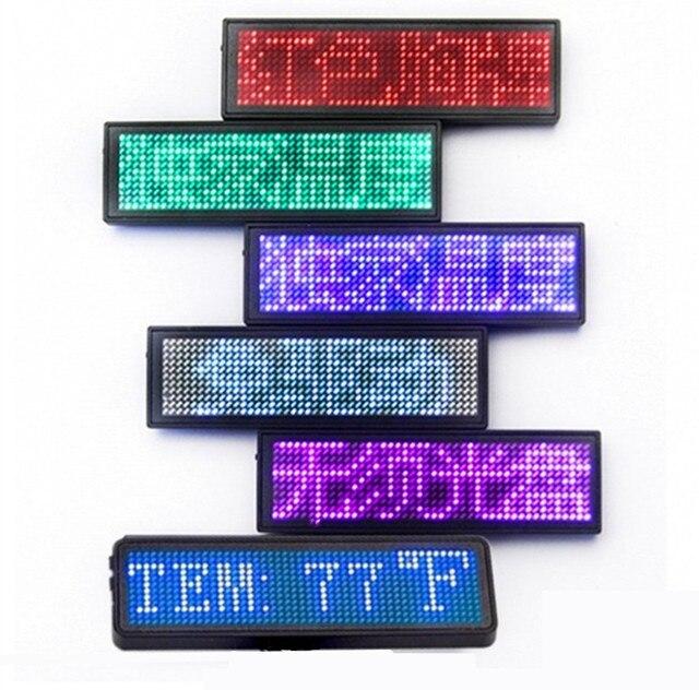 LED digitale programmabile Scrolling Name Message tag badge Sign batteria Global lingua display mini badge Blue