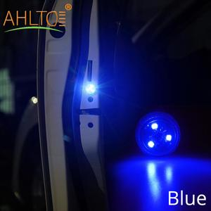 Image 1 - 1X Red Magnetic Wireless LED Car Door Opening Warning Lights Waterproof Strobe Flashing Anti Rear end Collision Led Safety Lamps