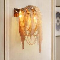 Modern fashion wall light aluminum silver gold vanity light for restaurant living room aluminum lines wall lamps mx10291013