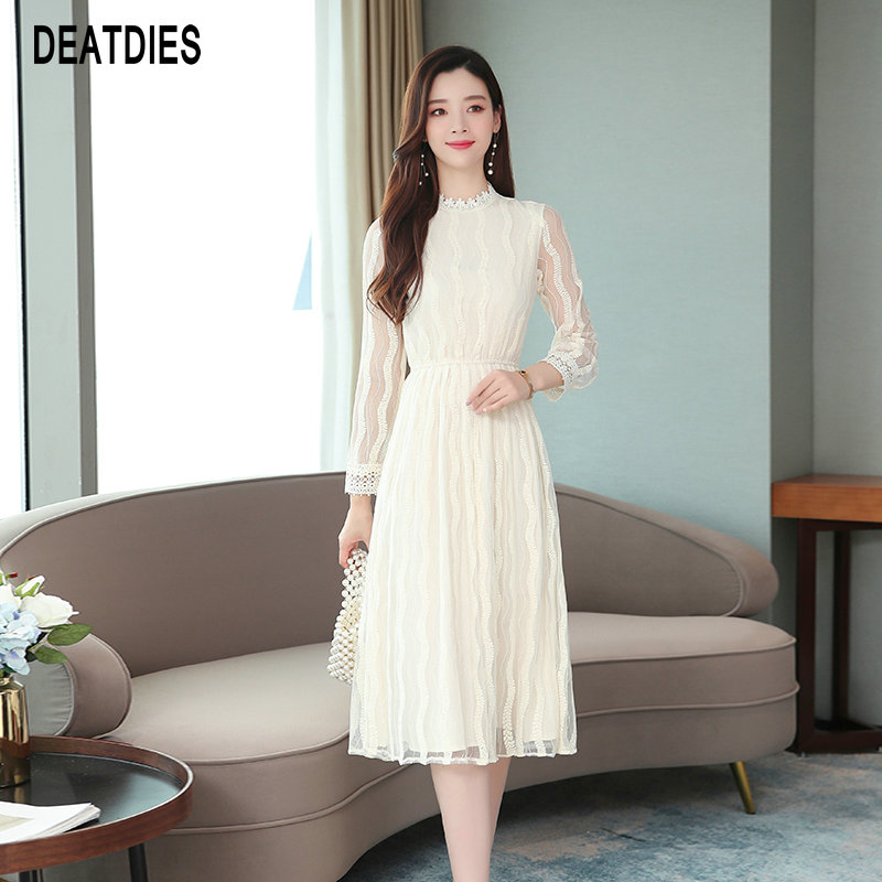 Autumn Clothes For Women Mandarin Collar Dress New Fashion Womens Clothing Elegant