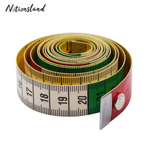 1PC 60inch/1.5M Measuring Ruler Sewing Tailor Tape Measure Soft with Snap Fasteners