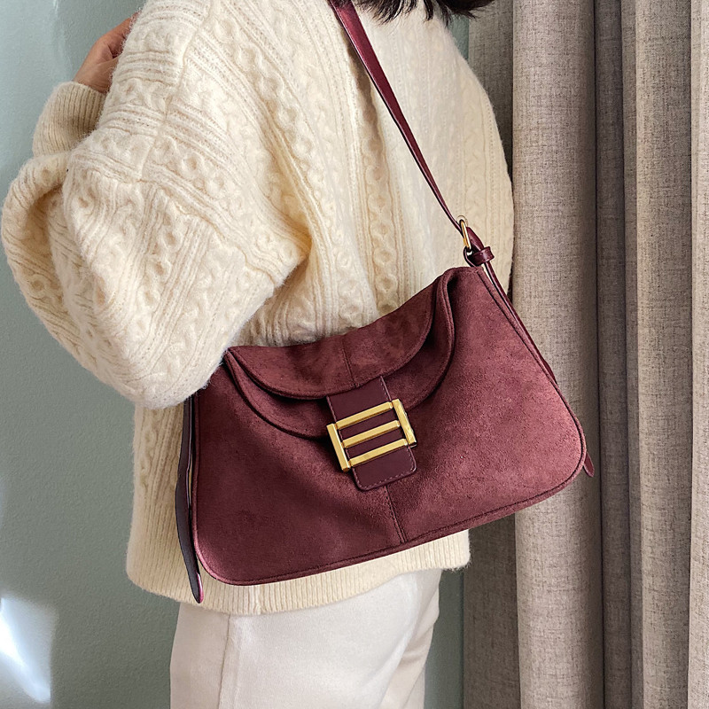 NIGEDU Vintage Matte Leather Women Shoulder Bag Brand Design Female Messenger Bags New Winter Ladies Handbag Black Bolsas Coffee