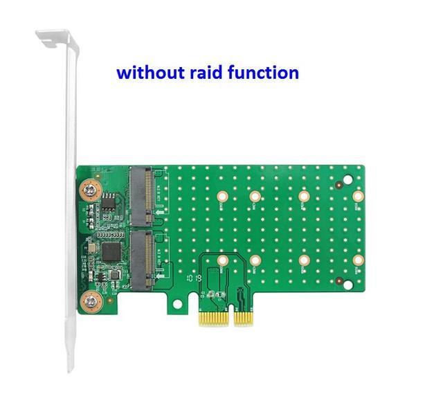 GODSHARK Dual M.2 PCIe Adapter 22110 2280 2260 2242 2230 zu PCI-e 3.0 x4 Host Controller Erweiterungskarte mit Low Profile Halterung f/ür PC Desktop oder M.2 SATA SSD M.2 NVME SSD B Key M-Taste