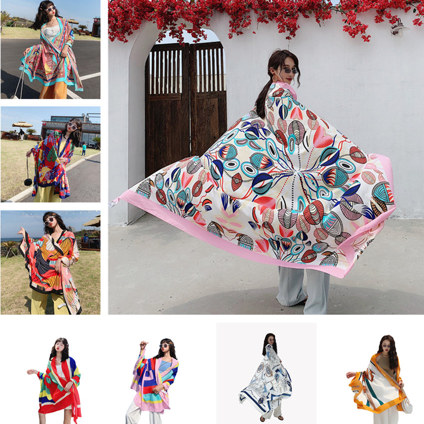 NEW 135x190cm Star With The Same Paragraph Cover-Ups Women Large Beach Dress Bikini Bathing Swimwear Cover Up Sarong Wrap Scarf