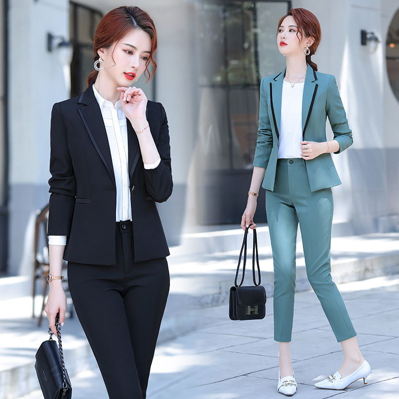Winter women's office female suit pants Two-piece suit Slim high quality ladies jacket Casual trousers Professional formal wear
