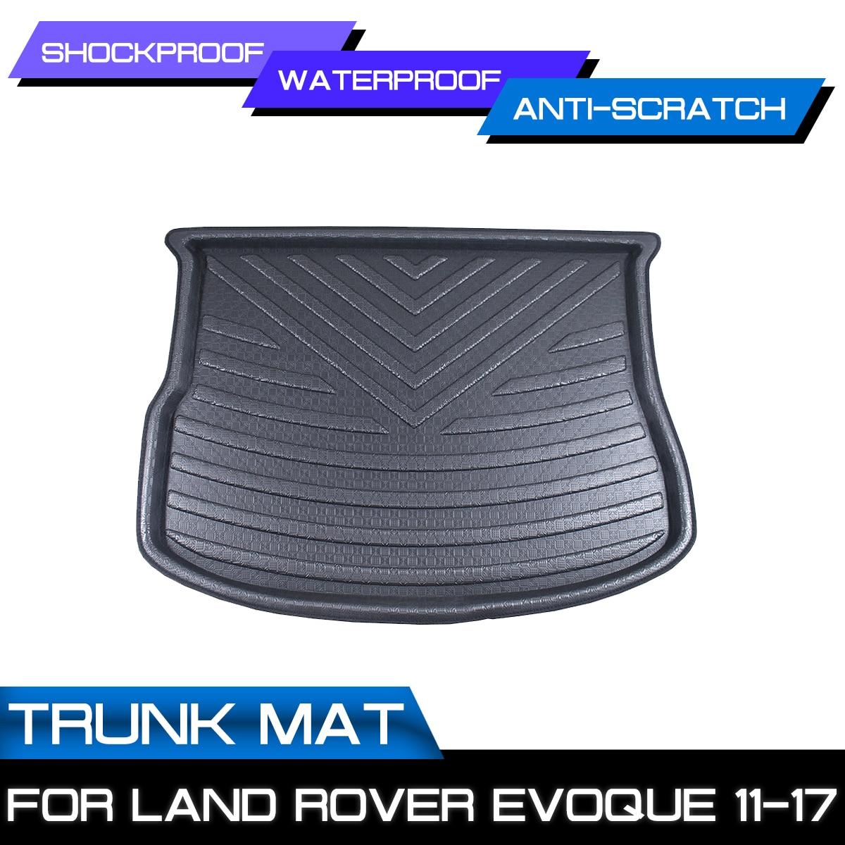 Araba arka bagaj önyükleme Mat su geçirmez paspaslar halı Anti çamur tepsi kargo astar Land Rover Evoque için 2011 2012 2013 2017 title=