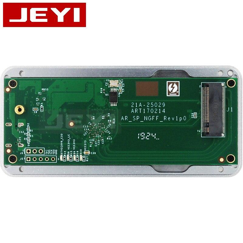 Boîtier mobile JEYI thunderbolt 3 m.2 nvme boîtier boîtier NVME à TYPE-C en aluminium TYPE C3.1 m. 2 USB3.1 M.2 PCIE U.2 SSD LEIDIAN-3 - 3