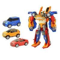 3 en 1 transformación Tobot Robot figura de acción juguete coche Juguetes para niños dibujos animados modelo de animación conjunto Juguetes