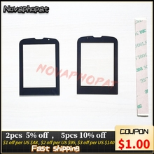 Novaphomat Pantalla de Cristal negra para Philips E560, repuesto de Panel de lente de vidrio (sin Sensor de pantalla táctil) + pista