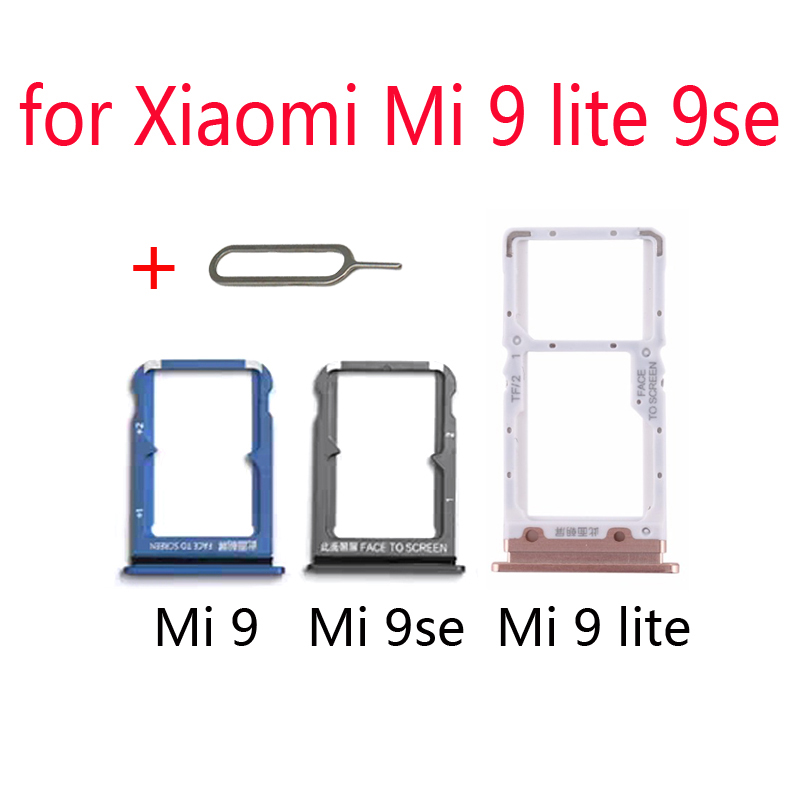 SIM Card Tray Adapter For XIAOMI Mi 9 Lite Se 9se 9lite Original Mobile Phone Housing New Chip Micro SD SIM Card Holder Slot