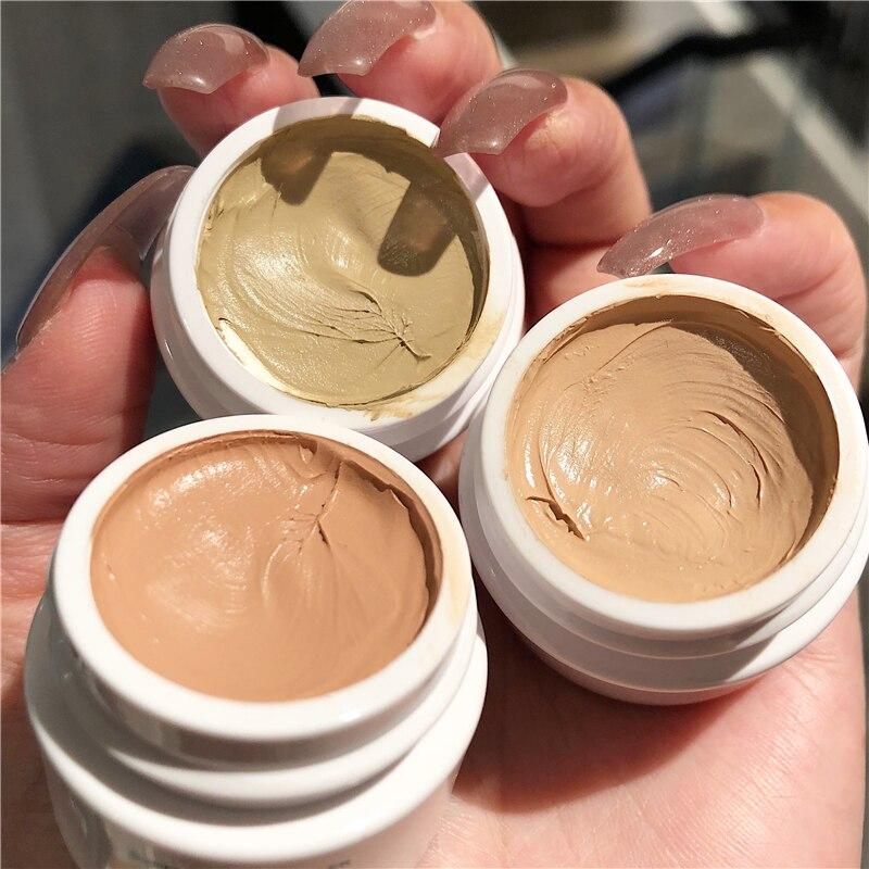 Novo 3 cores cobertura completa rosto corretivo olho círculo escuro creme à prova dwaterproof água líquido corrector base creme compõem cosméticos por atacado