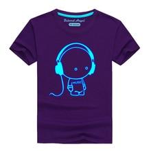 Kids T-Shirt Glow-In-Dark Short-Sleeve Boys Tops Girls Summer for Tees Toddler 3-15 Yrs