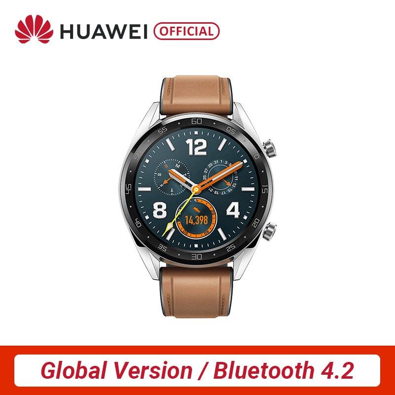 Version mondiale HUAWEI montre GT montre intelligente 1.39 ''écran AMOLED 14 jours d'autonomie 5ATM étanche traqueur de fréquence cardiaque
