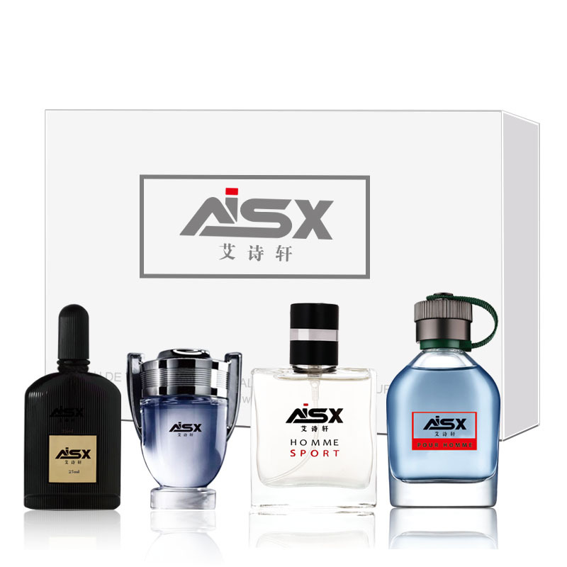 LANBENA 1Set 4Pcs Men Perfume Long Lasting Fragrance Mini Bottle Portable Parfum Brand Gentleman Lasting Spray Glass Bottle 4