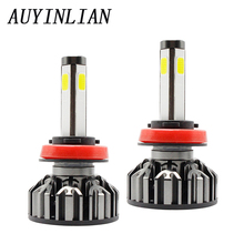 AUYINLIAN H8 led bulb H11 6000K 12V H9 H7 H4 9005 9006 LED h11 canbus 4 Sides and 360 Degree illumination Lamp h8 Car lights