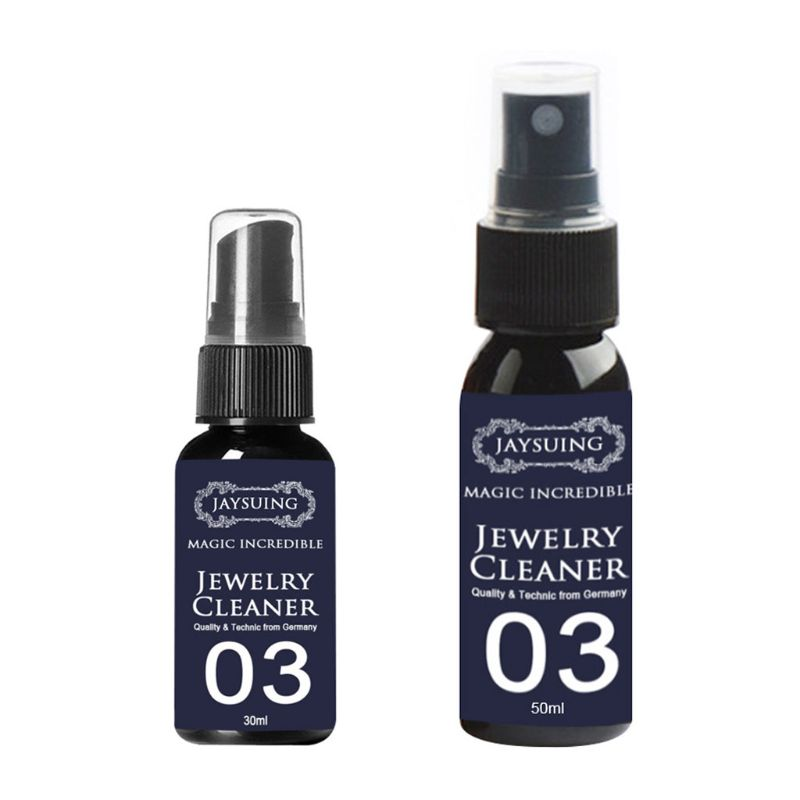 30ml/50ml Concentrate Jewelry Cleaner Anti-Tarnish Quick Jewellery Cleaning Spray For Watch Diamond Silver Gold Jewelry