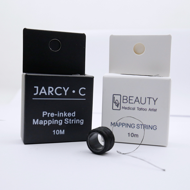 Microblading Pre Inked String Brow Mapping String Permanent Makeup Tattoo Supplies Measuring Line for PMU Eyebrow Microshading