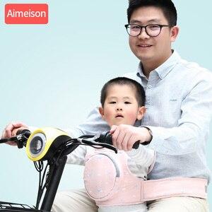 Image 2 - ילדי בטיחות אופנוע מושב חגורת בחזרה להחזיק מגן משקף אפוד חגורת מתכוונן ילדים רכב בטוח רצועת מוביל לרתום