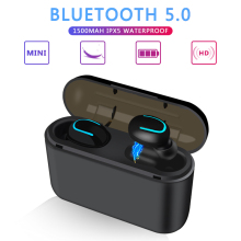 цена New TWS Bluetooth 5.0 headset wireless Bluetooth hands-free headset sports earbuds gaming headset онлайн в 2017 году