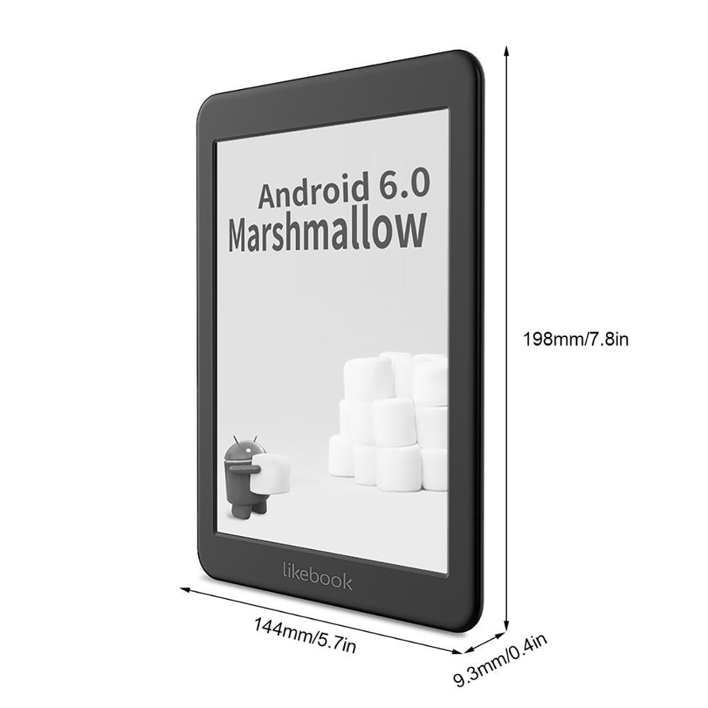 Likebook-lector de libros electrónicos Mars de 7,8 pulgadas, HD de 300PPI Ereader, 2G + 16G, ocho núcleos, con pantalla táctil de Carta, interfaz de 3,5mm, compatible con WiFi, BT 2