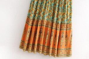 Image 3 - Vintage chic women  floral print sleeveless  beach Bohemian Spaghetti Strap maxi dress Ladies Summer Boho dress vestidos