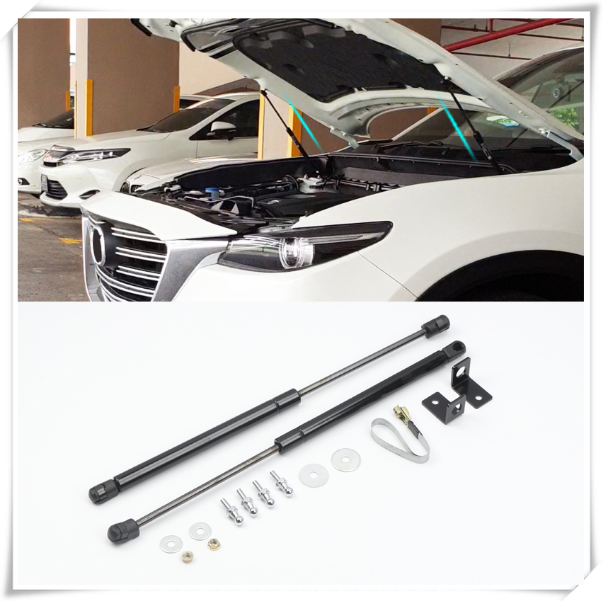 For <font><b>Mazda</b></font> <font><b>CX</b></font>-9 CX9 <font><b>2016</b></font> 2017 2018 2019 Hood Cover Hydraulic Rod Strut Telescopic Rod Engine Hood Lift Support 2pcs Top ship top image
