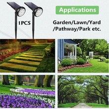 Солнечный Прожектор, светильник для забора, 7LED, газон, лампа для дома, RGB, открытый, садовый, ландшафтный, энергосберегающий, экологичный IP65
