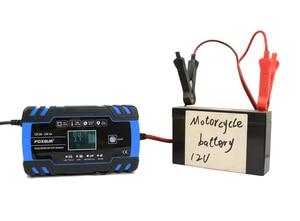 Image 5 - Foxsur 12V 24V Lood zuur Agm Gel Nat Efb Auto Motorfiets Acculader, Smart Battery Charger, puls Reparatie Batterij Oplader