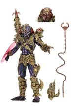 Neca Asli Predator Ultimate Alien Hunter dengan LED Trageting Mata PVC Action Figure Collectible Model Mainan(China)