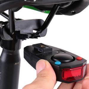 Dispositivo anti-roubo inteligente para bicicleta lanterna traseira alarme led stroboscopic sino com controle remoto sem fio cabo usb accessor