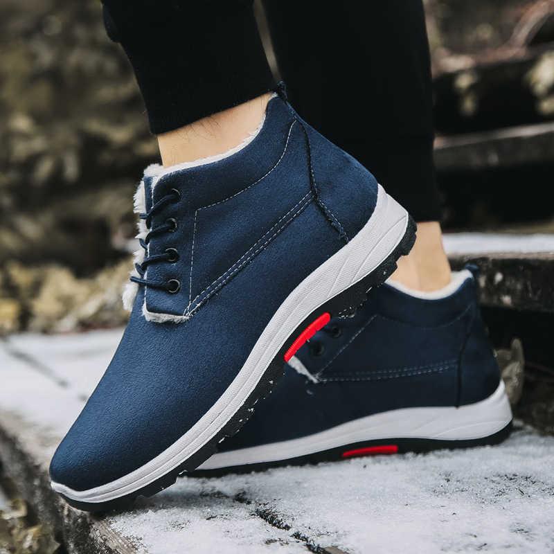 2019 แฟชั่นฤดูหนาว Warm Snow รองเท้า Low Top รองเท้าบูทรองเท้าผ้าใบแฟชั่นผู้ชายรองเท้าบุรุษรองเท้าสบายๆรองเท้าชายขนาด