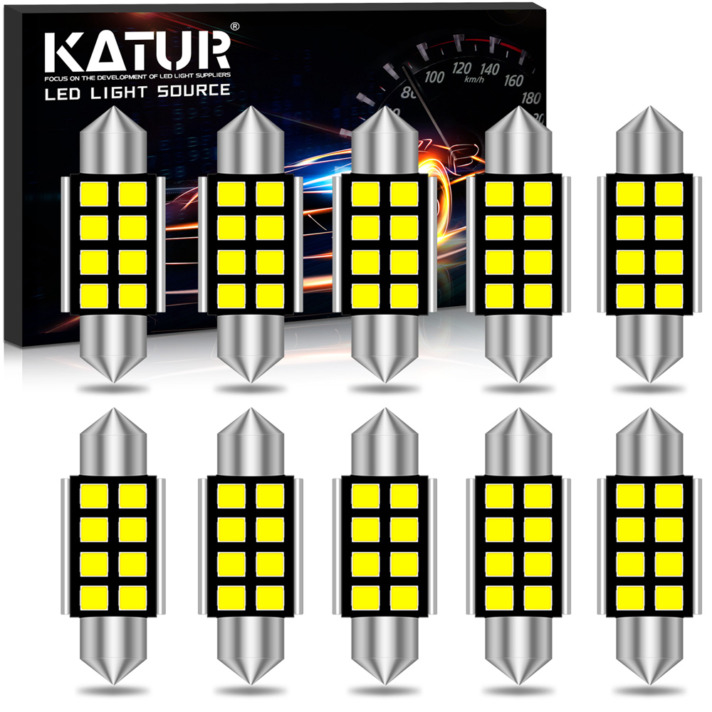 10x CANBUS Festoon 36mm C5W <font><b>LED</b></font> NO Error Auto 31mm 39mm <font><b>42mm</b></font> Light <font><b>LED</b></font> Car Interior Dome Lamp Reading <font><b>Bulb</b></font> for VW golf 7 polo T5 image