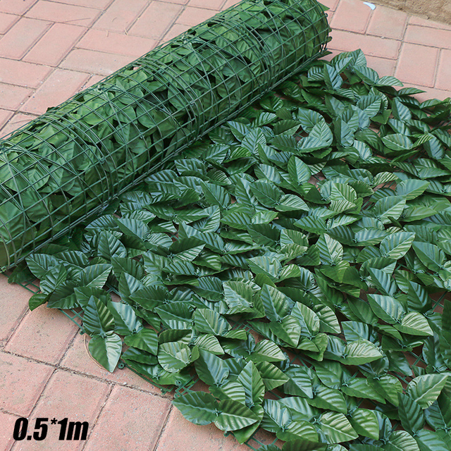 0.5*1M Artificial Faux Ivy Leaf Privacy Fence Screen Garden Panels Outdoor Hedge