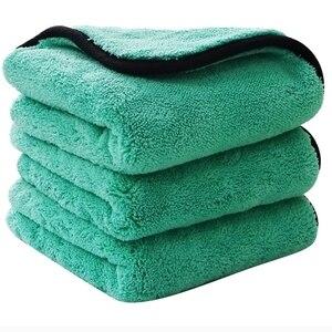 Image 1 - 1200GSM mikrofiber havlu araba yıkama Premium kalın peluş araba detaylandırma yıkama temizleme parlatma bezi havlu özel araç kurutma havlusu