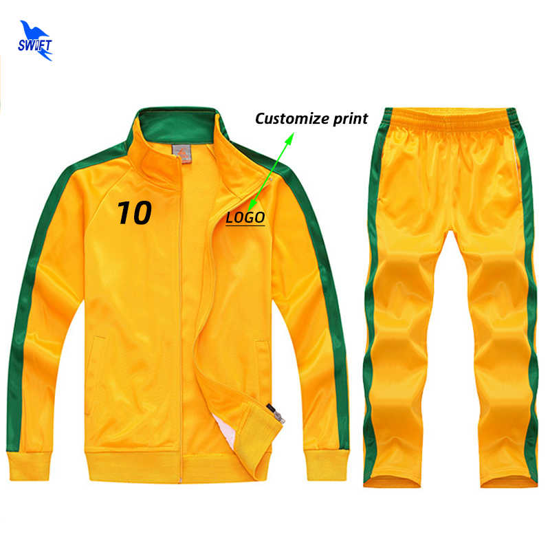 Autumn Winter Kids Soccer Jerseys Sets Survetement Football Kits Futsal Jackets Men Boys Sports Training Tracksuit Uniforms Suit