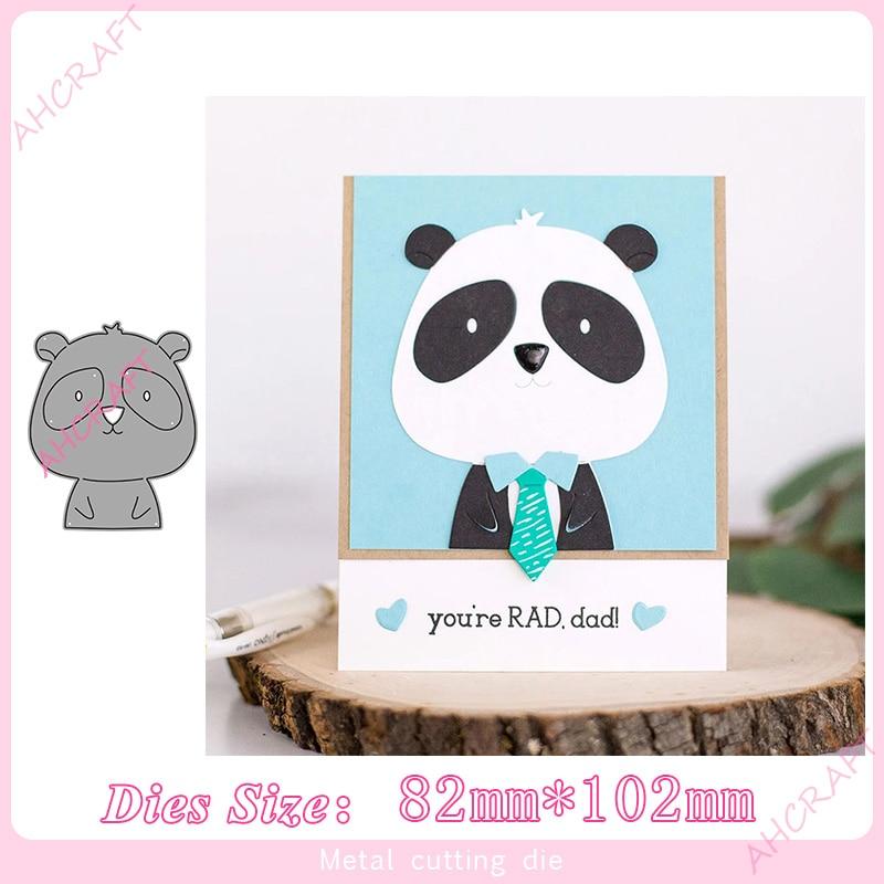 Panda Animal Metal Cutting Dies For Diy Scrapbooking Photo Album Decorative Embossing PaperCard Crafts Die 2020